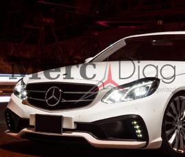 LED W212 lift reflektory – montaż, programowanie – Mercedes