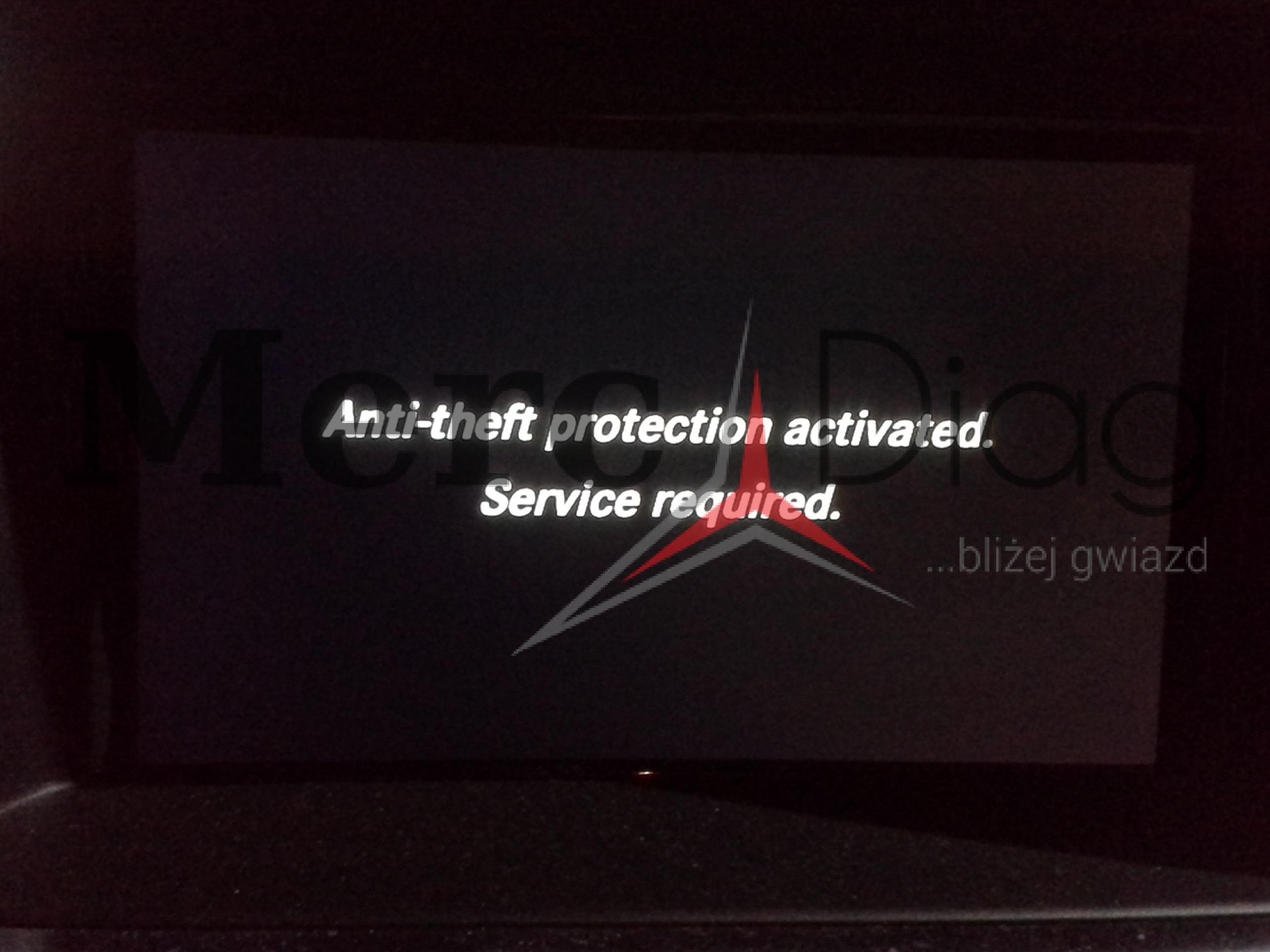 ANTI-THEFT, PRE-SAFE – repair – Mercedes