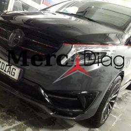 Mercedes W447 V Class Black Crystal